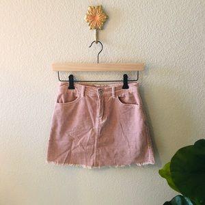 Brandy Melville John Galt mini corduroy skirt